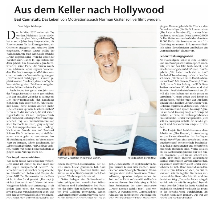 Aus dem Keller nach Hollywood Norman Gräter