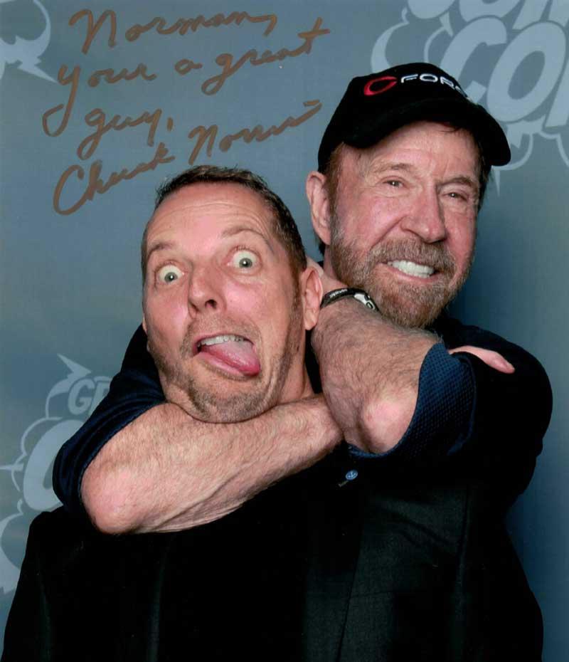 Chuck Norris und Norman Gräter